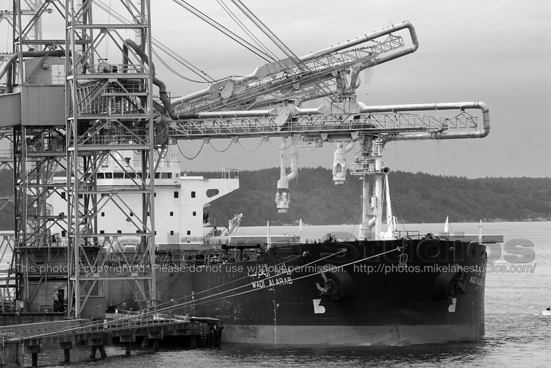 The Wadi Al Arab docked at the port of Tacoma.