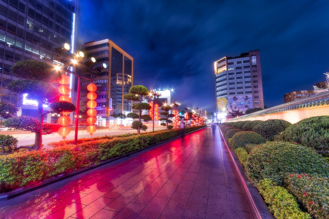 Red Lantern Sidewalk