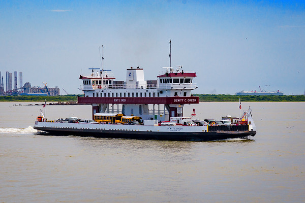 The Ferry Boat from Point Bolivar to Galveston