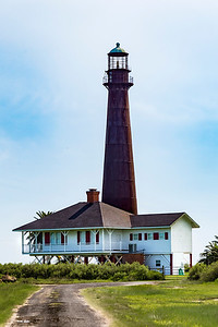 Bolivar Point Lighthouse...Across the Ship Channel from Galveston.