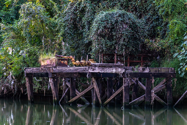 An Abandoned Pier on The Bayou
