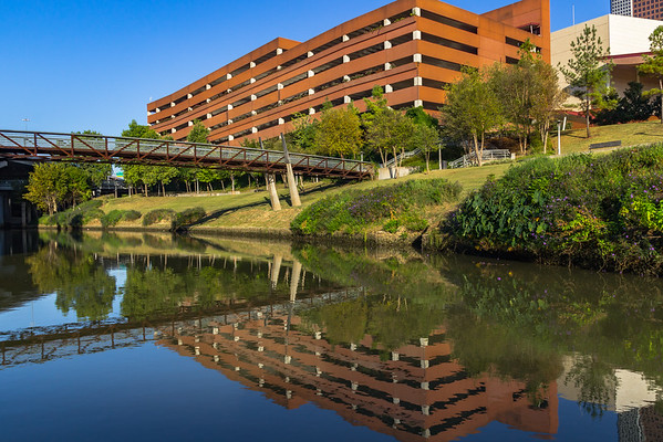A Parking Garage/Pedestrian Bridge Reflection