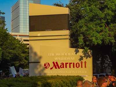 Finally the main entrance to the Marriott.