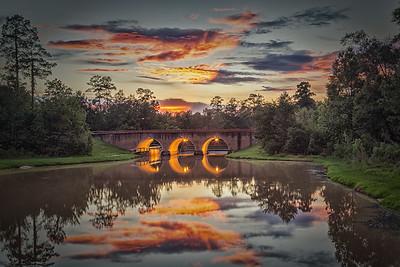 The Sunset at Alden Bridge