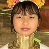 This was the first girl from the long neck tribe that I came across this day.  What surprised me was how pretty she is.  In fact, the younger women in the tribes are all quite beautiful.  Age is not very kind to the hill tribe women as you will see later.