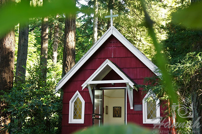"""St. Anne's Chapel at """"The Grotto"""" in Portland, Oregon This mini chapel, which was built in 1934 honors St.Anne who is the mother of Mary.  It is the house of numerous Madonna paintings from many countries.  © Copyright Hannah Pastrana Prieto"""