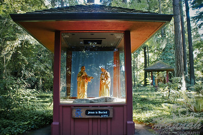 """One of the wood carvings of the Via Matris  at """"The Grotto"""" located in Portland, Oregon  © Copyright Hannah Pastrana Prieto"""