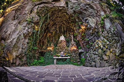 """""""The Grotto""""             It is located in Portland, Oregon and is approximately 30 feet wide, 30 feet deep and almost 50 feet high.  It was carved out of the face of the cliff back in 1923 and a replica of Michelangelo's 'Pieta', the statue of the Virgin Mother holding Jesus in her arms was placed at the altar.  © Copyright Hannah Pastrana Prieto"""