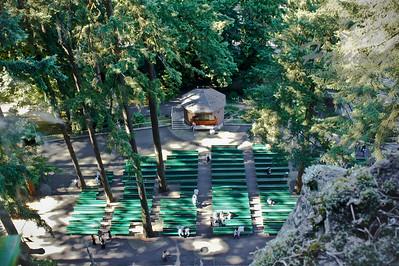 "The outdoor church pews at ""The Grotto"" Portland, Oregon  © Copyright Hannah Pastrana Prieto"