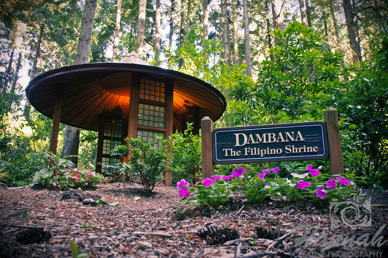 """Dambana, The Filipino Faith Shrine at """"The Grotto"""" located in Portland, Oregon      It is a place of pride and pleasure for the Filipino Catholic community of Oregon and SW Washington.  The Dambana features three sculptures of St. Lorenzo Ruiz (the first Filipino saint), Santo Nino de Cebu and Our Lady of Dambana.  It also depicts images and materials from the Philippines.  © Copyright Hannah Pastrana Prieto"""