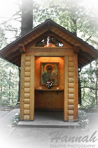 "Our Lady of Czestochowa Polish Shrine at ""The Grotto"" in Portland, Oregon This shrine was made possible by the support of the local Polish community and it contains the replica of the icon popularly known as the Black Madonna.  © Copyright Hannah Pastrana Prieto"
