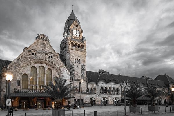 la gare de Metz   the station