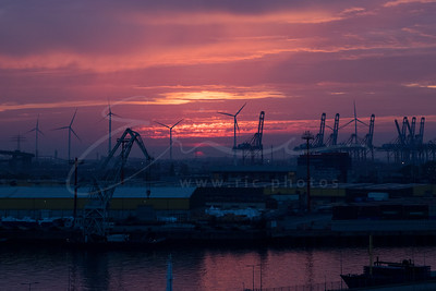 le port d'Hambourg en Allemagne