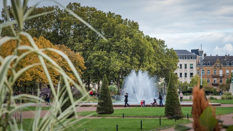 jardin de l'esplanade de Metz