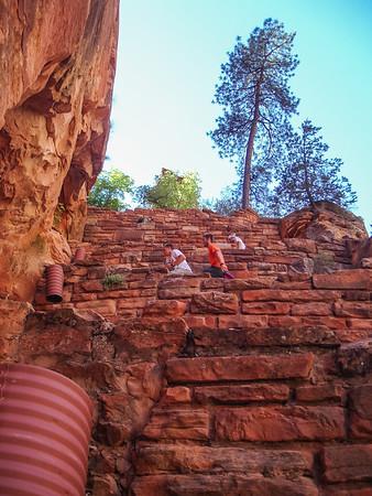 Climb to Angel's Landing - Walter's Wiggles switchbacks.