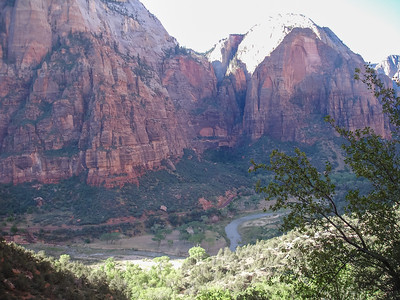 Climb to Angel's Landing - Looking back at river where we started.