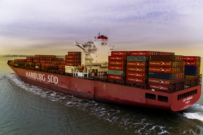 A Ship Passing in Port of Houston