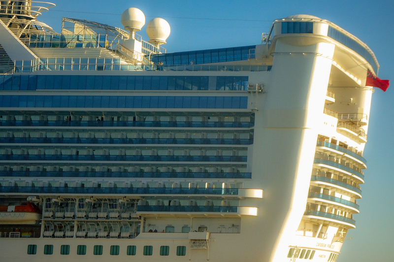 Our room was about six from the end of the ship, top row of balconies. What a view we had!