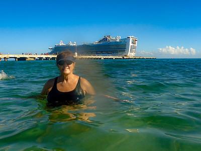 A Little Swim at Costa Maya, Mexico