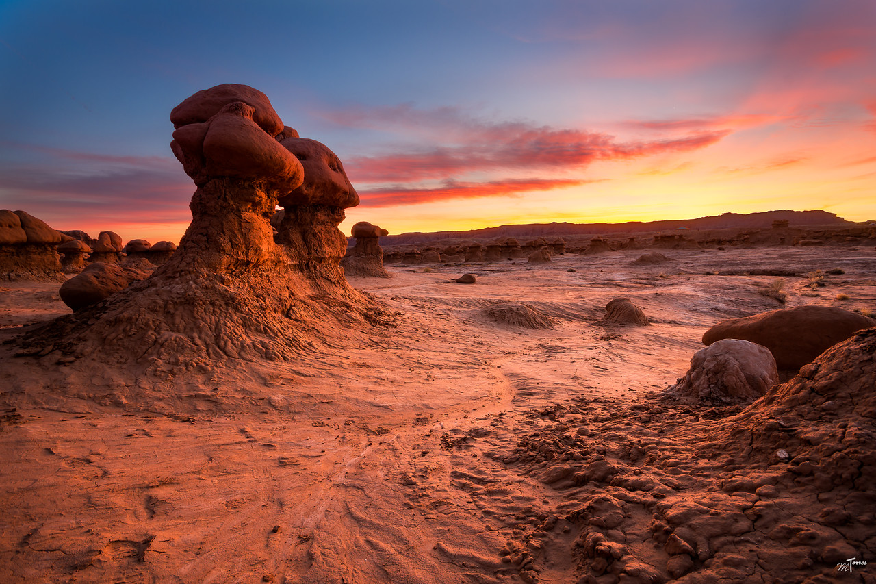 Goblin Valley Fire in the Sky