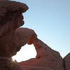 Sunrise touches Arch Rock, Valley of Fire