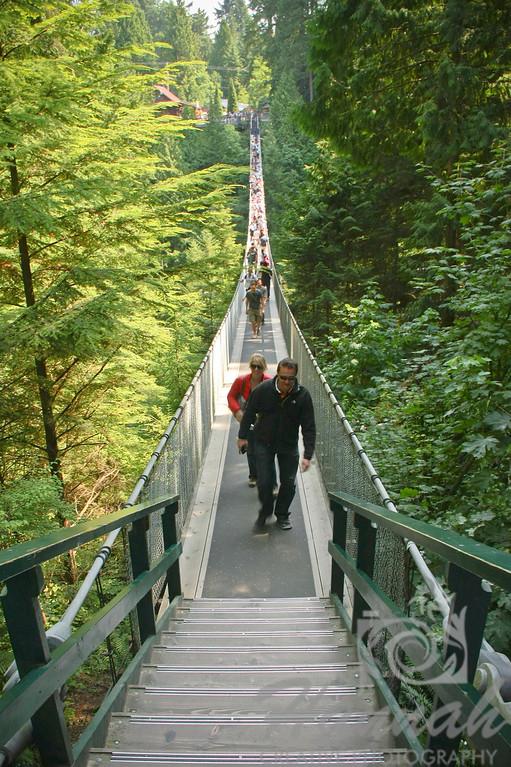 Tourists Walking at the Capilano Suspension Bridge Vancouver, British Columbia, Canada   © Copyright Hannah Pastrana Prieto