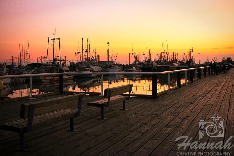 Fisherman's Wharf at Dusk Vancouver, British Columbia, Canada   © Copyright Hannah Pastrana Prieto