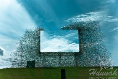 """""""A Billboard That Advertises Nothing But Clean Air"""" located at the U.S. Port of Entry in Blaine, Washington just right outside the U.S.-Canada border crossing near Vancouver, British Columbia in Canada  © Copyright Hannah Pastrana Prieto"""