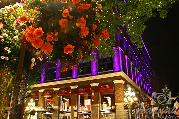Inuit Gallery of Vancouver at Gastown... the lights of this building change colors after sometime Vancouver, British Columbia, Canada   © Copyright Hannah Pastrana Prieto