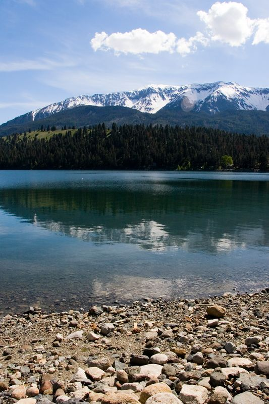 Mount Joseph reflects in Wallowa Lake in Oregon.