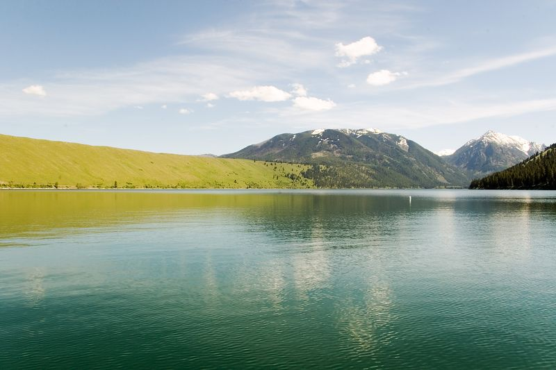 A hill on the east side of Wallowa Lake formed by glaciers.