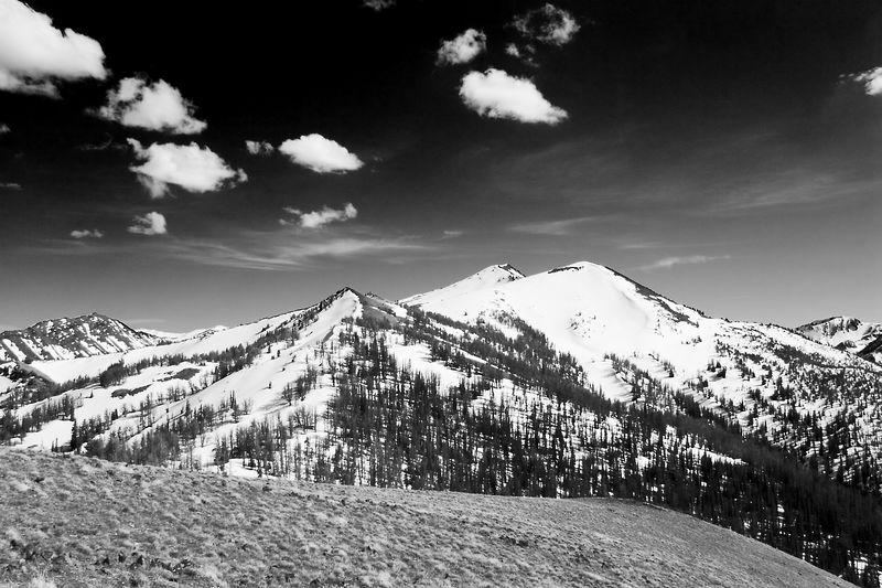 A picture of Mt. Sacajawea in Wallowa County Oregon from the top of Mt. Howard.  What a beautiful day for a gondola ride and a short hike.  The snow up top was still thigh deep in places but the temperature was wonderful.