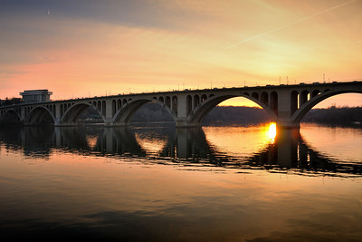 Key Bridge Reflections