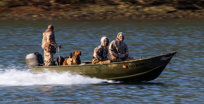 Hunters of ducks on McAllister Creek.