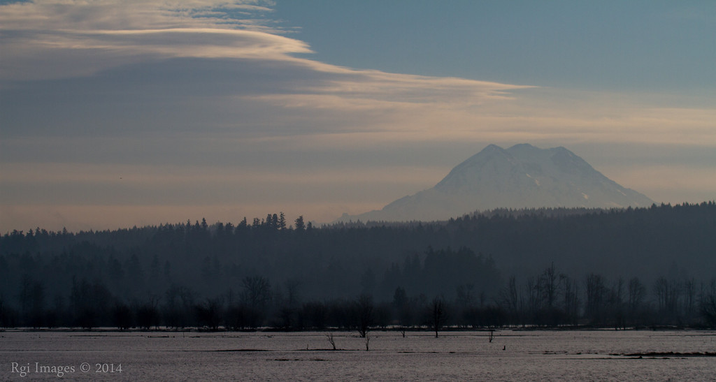 Mount Rainier and her lenticular clouds.