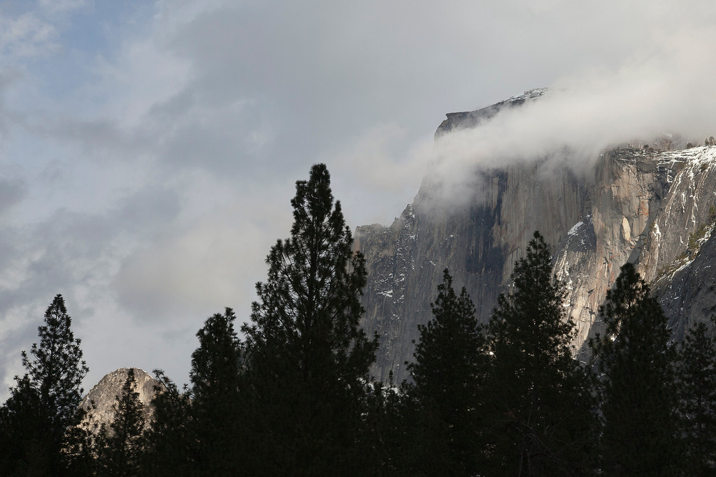 Halfdome and clouds