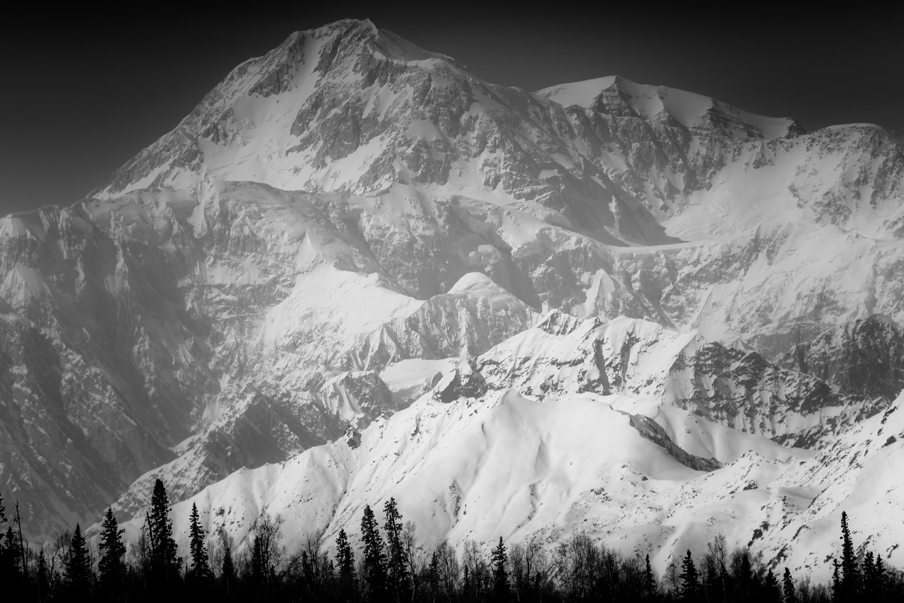 Beautiful Denali on a clear day, Denali NP, Alaska