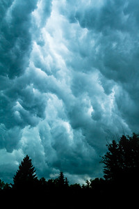 Storm clouds over St. Albert, Alberta, Canada.
