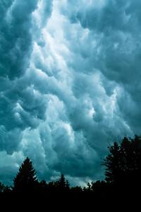 Storm clouds over St. Albert, Alberta, Canada.