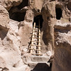 """Ancestral Pueblo cliff dwelling at Bandelier National Monument in New Mexico"""