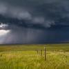 Prairie storm near Claresholm, Alberta, Canada.