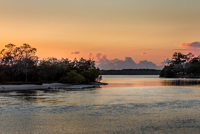 Sunrise over the Maroochy River, Queensland