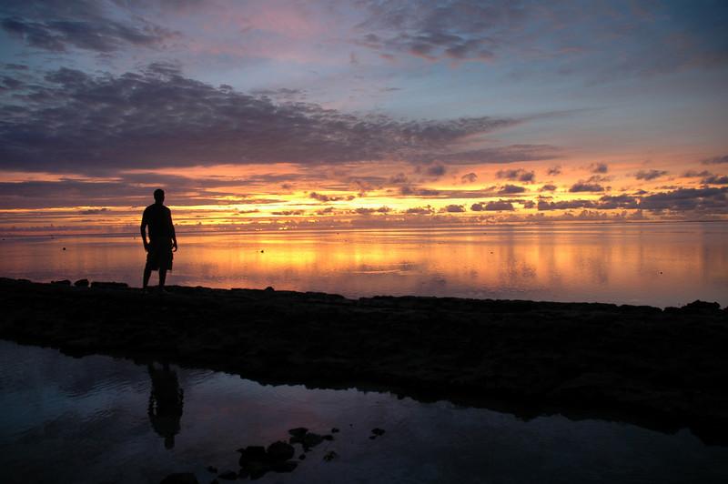 Tahitian Sunset silhouette