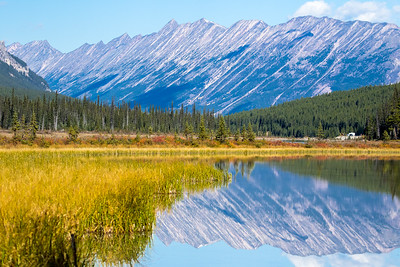 Rocky mountains in Jasper National Park, Alberta, Canada.