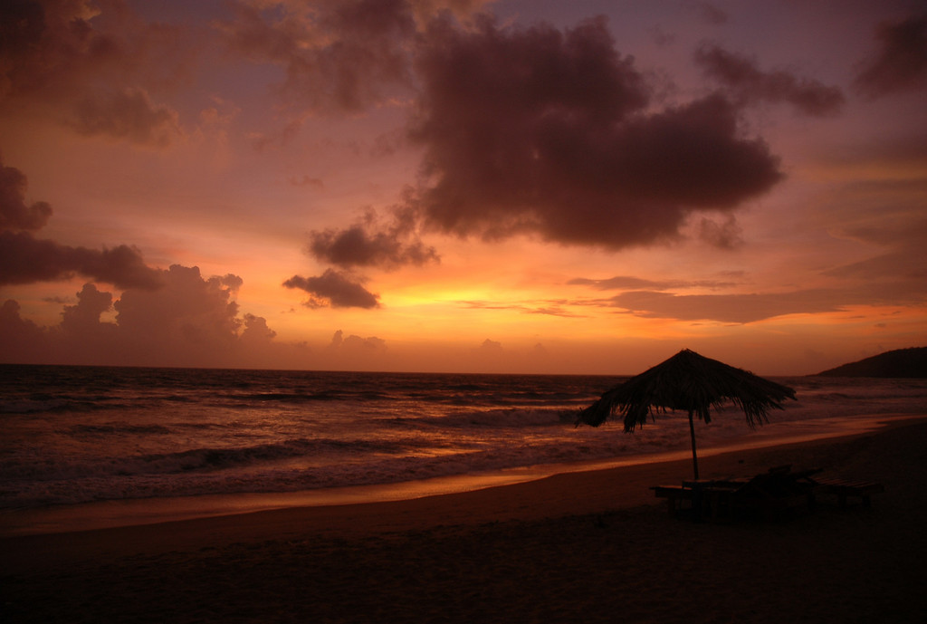 Goa, India I must admit i have seen some pretty incredible sunsets on my travels but i have to say this definitely makes it to my top 3. The colors just kept on getting better and it seemed to go on forever.