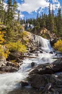Upper Tangle falls in Jasper National Park, Alberta, Canada.