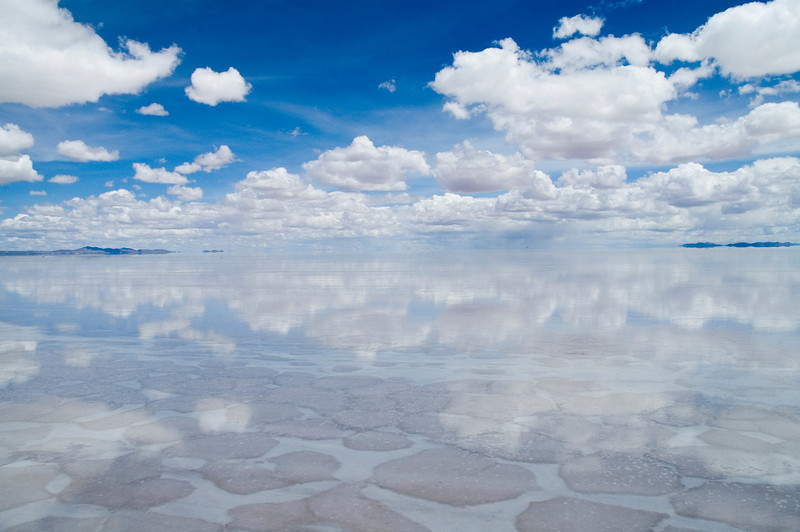 Uyuni, Bolivia Located in Southwestern Bolivia, Salar de Uyuni is the largest salt flat in the world at 4,085 square miles.  The flats were once part of a large lake more than 40,000 years ago.