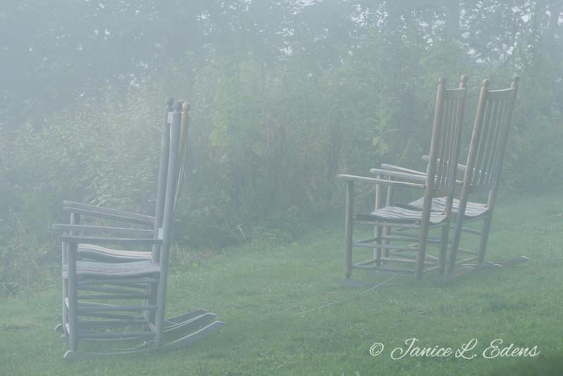"""Foggy Morning at Pisgah Inn"""
