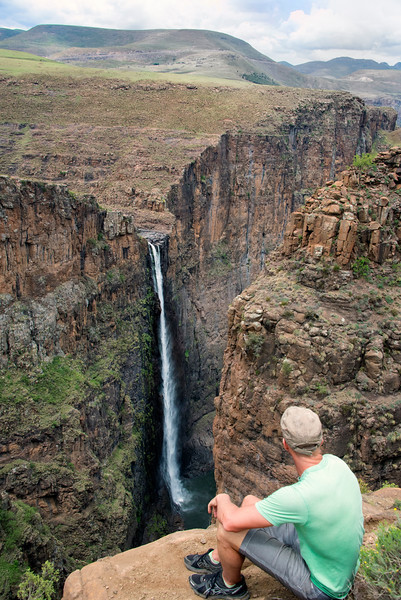 Maletsunyane waterfall Semonkong, in  Lesotho Africa