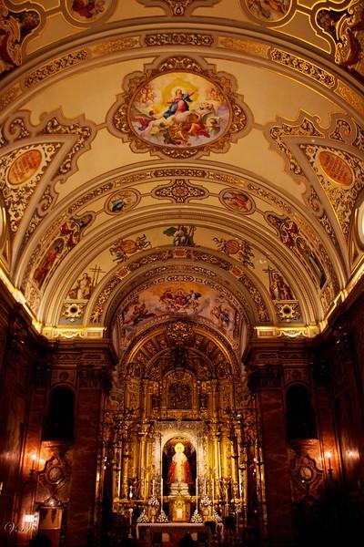 Inside the Basilica of Nuestra Señora de la Esperanza Macarena (Our Lady of Hope Macarena).